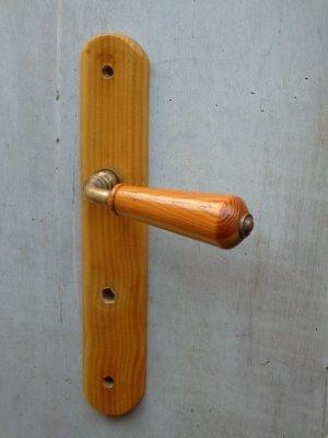 画像1: インテリア雑貨 ドアノブプレート木製