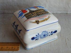 画像1: キッチン雑貨 陶器製ミニ容器小物入れケース