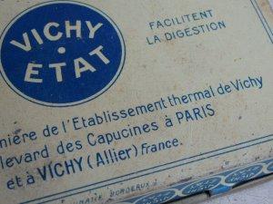 画像3: フランスアンティーク 缶 ティン缶 小物入れ缶ケース VICHY