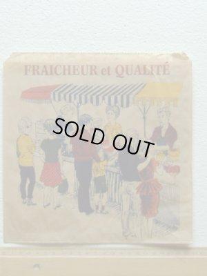 画像1: フランス直輸入◇マルシェ市場◇世界のマルシェ袋fraicheur et qualite ×20枚