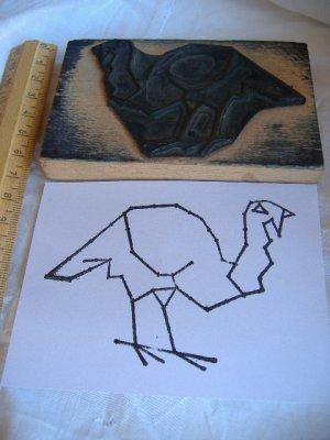 画像1: アンティークスタンプ 七面鳥